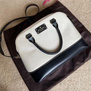 Kate Spade black and white classic purse